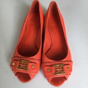 Tory Burch red shoes size 6.5